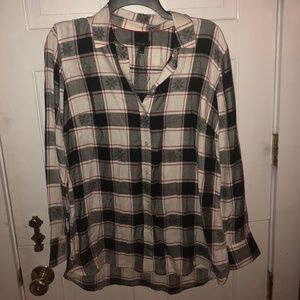 Talbots button down/flannel holiday print